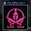 Molon Labe Gun Omega Spartan Decal Sticker Pink Hot Vinyl 120x120