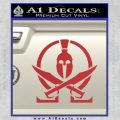 Molon Labe Gun Omega Spartan Decal Sticker Red 120x120