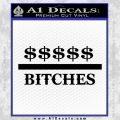 Money Over Bitches D1 Decal Sticker Black Vinyl 120x120