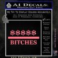 Money Over Bitches D1 Decal Sticker Pink Emblem 120x120
