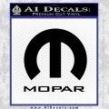 Mopar Full Decal Sticker Black Vinyl 120x120