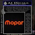 Mopar Wide Decal Sticker DN Orange Emblem 120x120
