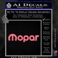 Mopar Wide Decal Sticker DN Pink Emblem 120x120