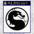 Mortal Kombat Decal Sticker DS Black Vinyl 120x120