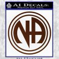 N.A. Narcotics Anonymous Decal Sticker D1 BROWN Vinyl 120x120