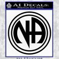 N.A. Narcotics Anonymous Decal Sticker D1 Black Vinyl 120x120