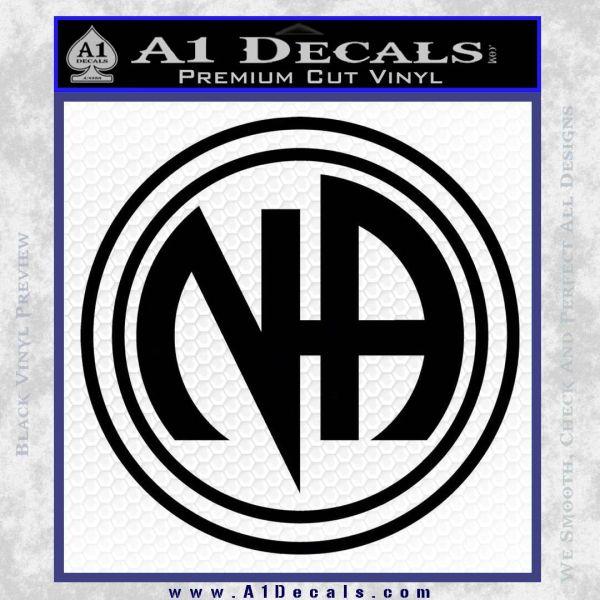 N.A. Narcotics Anonymous Decal Sticker D1 Black Vinyl