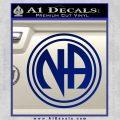 N.A. Narcotics Anonymous Decal Sticker D1 Blue Vinyl 120x120