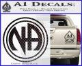 N.A. Narcotics Anonymous Decal Sticker D1 Carbon FIber Black Vinyl 120x97