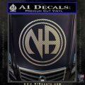 N.A. Narcotics Anonymous Decal Sticker D1 Carbon FIber Chrome Vinyl 120x120