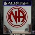 N.A. Narcotics Anonymous Decal Sticker D1 DRD Vinyl 120x120