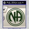 N.A. Narcotics Anonymous Decal Sticker D1 Dark Green Vinyl 120x120