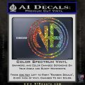 N.A. Narcotics Anonymous Decal Sticker D1 Glitter Sparkle 120x120