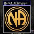 N.A. Narcotics Anonymous Decal Sticker D1 Gold Vinyl 120x120