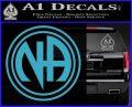 N.A. Narcotics Anonymous Decal Sticker D1 Light Blue Vinyl 120x97