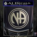 N.A. Narcotics Anonymous Decal Sticker D1 Metallic Silver Emblem 120x120