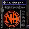 N.A. Narcotics Anonymous Decal Sticker D1 Orange Emblem 120x120