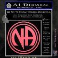 N.A. Narcotics Anonymous Decal Sticker D1 Pink Emblem 120x120