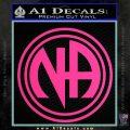 N.A. Narcotics Anonymous Decal Sticker D1 Pink Hot Vinyl 120x120