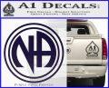 N.A. Narcotics Anonymous Decal Sticker D1 PurpleEmblem Logo 120x97