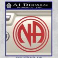 N.A. Narcotics Anonymous Decal Sticker D1 Red 120x120