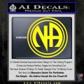 N.A. Narcotics Anonymous Decal Sticker D1 Yellow Laptop 120x120