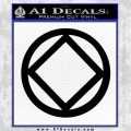 NA Narcotics Anonymous CST Decal Sticker Black Vinyl 120x120