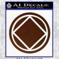 NA Narcotics Anonymous Circle D2 Decal Sticker BROWN Vinyl 120x120