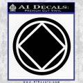 NA Narcotics Anonymous Circle D2 Decal Sticker Black Vinyl 120x120