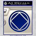 NA Narcotics Anonymous Circle D2 Decal Sticker Blue Vinyl 120x120