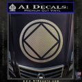 NA Narcotics Anonymous Circle D2 Decal Sticker Carbon FIber Chrome Vinyl 120x120