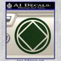 NA Narcotics Anonymous Circle D2 Decal Sticker Dark Green Vinyl 120x120