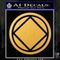 NA Narcotics Anonymous Circle D2 Decal Sticker Gold Vinyl 120x120