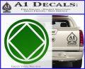 NA Narcotics Anonymous Circle D2 Decal Sticker Green Vinyl Logo 120x97