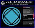 NA Narcotics Anonymous Circle D2 Decal Sticker Light Blue Vinyl 120x97