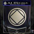 NA Narcotics Anonymous Circle D2 Decal Sticker Metallic Silver Emblem 120x120