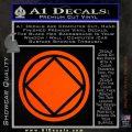 NA Narcotics Anonymous Circle D2 Decal Sticker Orange Emblem 120x120