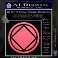 NA Narcotics Anonymous Circle D2 Decal Sticker Pink Emblem 120x120