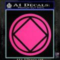 NA Narcotics Anonymous Circle D2 Decal Sticker Pink Hot Vinyl 120x120