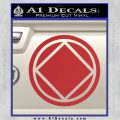 NA Narcotics Anonymous Circle D2 Decal Sticker Red 120x120