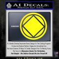NA Narcotics Anonymous Circle D2 Decal Sticker Yellow Laptop 120x120