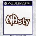 NA Narcotics Anonymous NAsty D1 Decal Sticker BROWN Vinyl 120x120