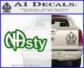 NA Narcotics Anonymous NAsty D1 Decal Sticker Green Vinyl Logo 120x97