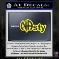 NA Narcotics Anonymous NAsty D1 Decal Sticker Yellow Laptop 120x120