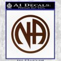 Na Narcotics Anonymous Single Circle D1 Decal Sticker BROWN Vinyl 120x120