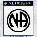 Na Narcotics Anonymous Single Circle D1 Decal Sticker Black Vinyl 120x120