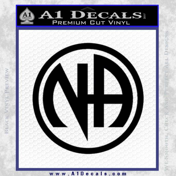Na Narcotics Anonymous Single Circle D1 Decal Sticker Black Vinyl