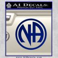 Na Narcotics Anonymous Single Circle D1 Decal Sticker Blue Vinyl 120x120
