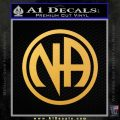Na Narcotics Anonymous Single Circle D1 Decal Sticker Gold Vinyl 120x120