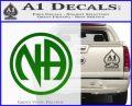Na Narcotics Anonymous Single Circle D1 Decal Sticker Green Vinyl Logo 120x97